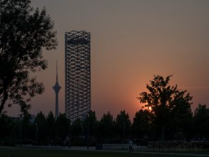 Asien, China, Sonnenuntergänge, Tianjin